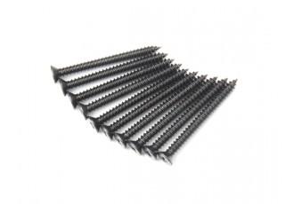 Screw Flat Head Phillips M2.6x28mm Self Tapping Steel Black (10pcs)