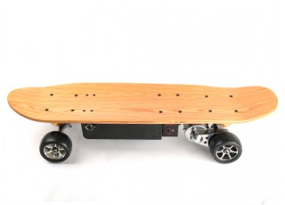 Long Board Style Electric Skateboard Side view