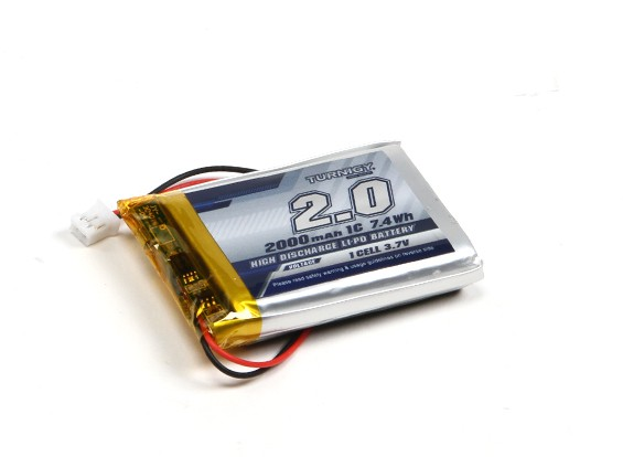 Turnigy 2000mAh 1S 1C Lipo w/ 2 Pin JST-PH Connector
