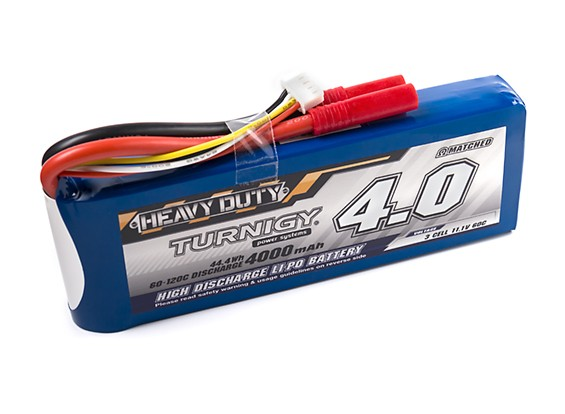 Turnigy Heavy Duty 4000mAh 3S 60C Lipo Pack