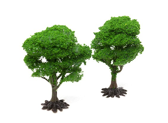 HobbyKing™ 110mm Scenic Wire Model Trees with Base (2 pcs)