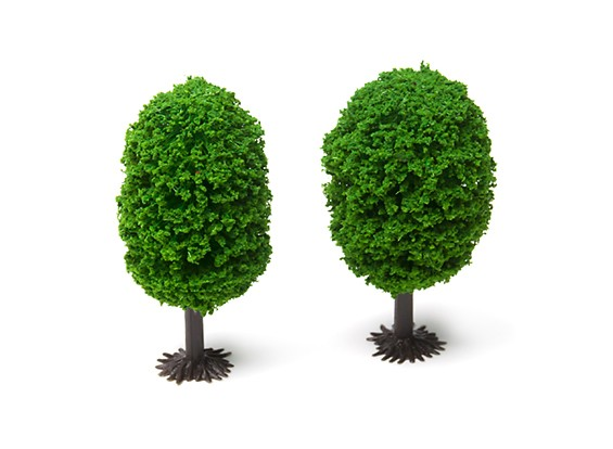 HobbyKing™ 70mm Scenic Model Trees with Base (2 pcs)