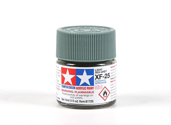 Tamiya XF-25 Flat Light Sea Grey Acrylic Paint (10ml)