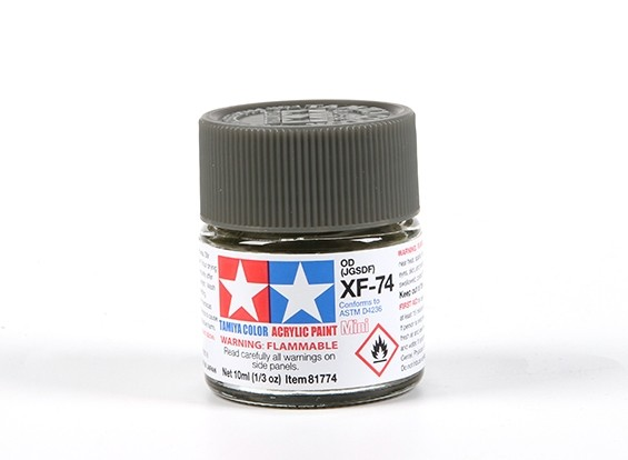 Tamiya XF-74 OD Acrylic Paint (10ml)