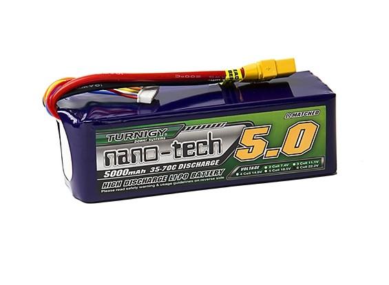 Turnigy nano-tech 5000mAh 6S 35~70C Lipo Pack w/XT-90