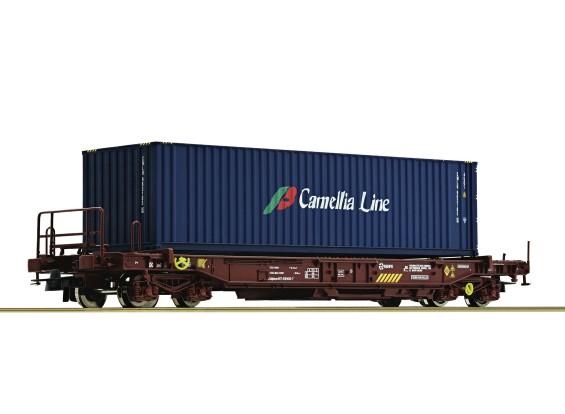 Roco HO Double Bogie Standard Pocket Wagon RENFE (Camellia Line)