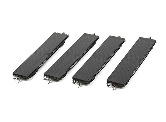 NX17K Flat Car (HO Scale - 4 Pack) Set of 4