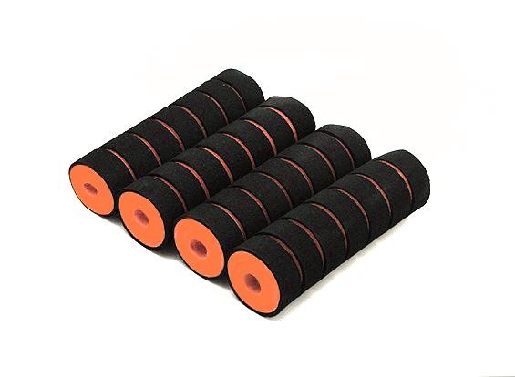 Multi-Rotor Shock Absorbing Foam Skid Halsbanden Geel / Zwart (110x32x10mm) (4 stuks)