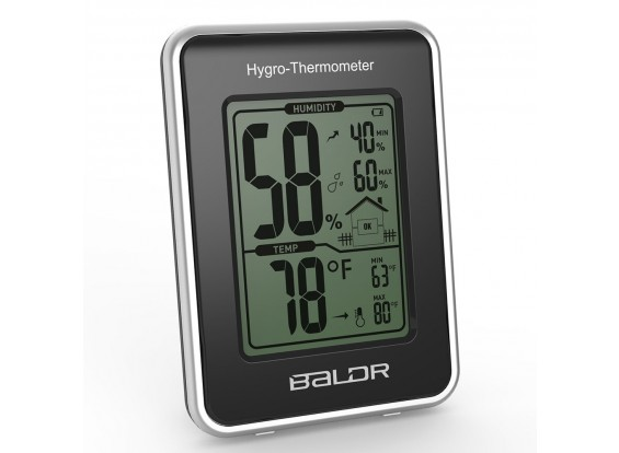 BALDR B0109TH Weather Station Thermometer Hygrometer Humidity Temperature Meter