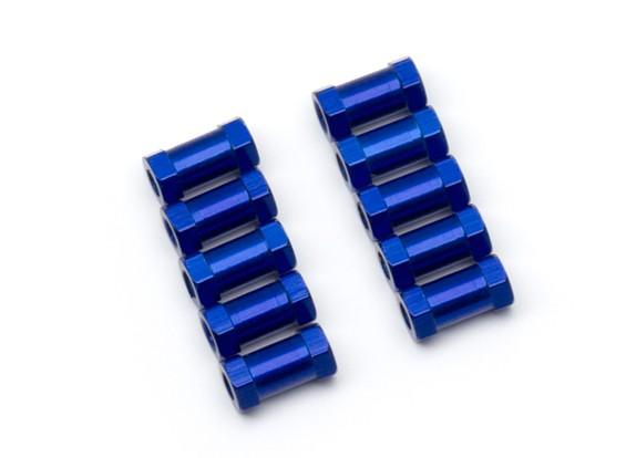 Lichtgewicht Aluminium Ronde Sectie Spacer M3x10mm (Blauw) (10st)