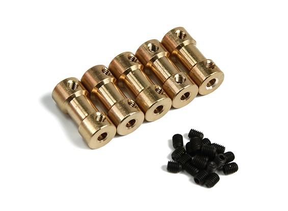 Brass Motor Transmissie Connector 3mm-3.17mmxD9xH20mm (5 stuks)