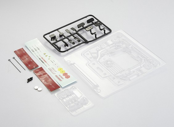 MatrixLine Polycarbonaat Engine Kit voor 1/10 Touring Cars # 1