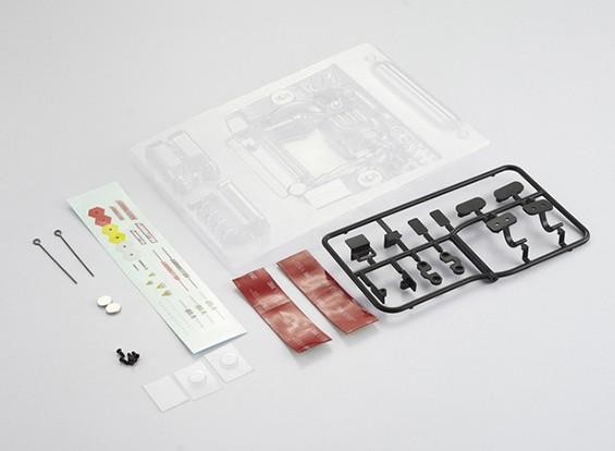 MatrixLine Polycarbonaat Modified dwarsgeplaatste motor Kit voor 1/10 Touring Cars