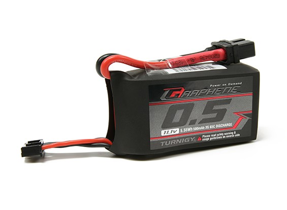 Pack Turnigy Grafeen 500mAh 3S 65C Lipo (Short Lead)