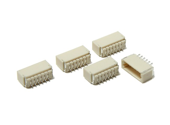 JST-SH 6Pin Socket (Surface Mount) (5 stuks)