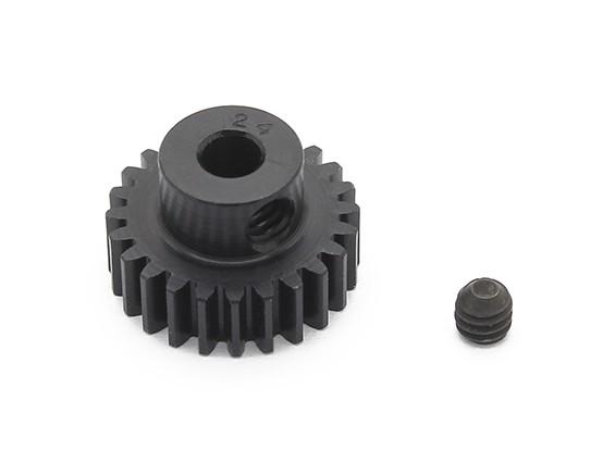 Robinson Racing zwart geanodiseerd aluminium Pinion Gear 48 Pitch 24T (AR Warehouse)