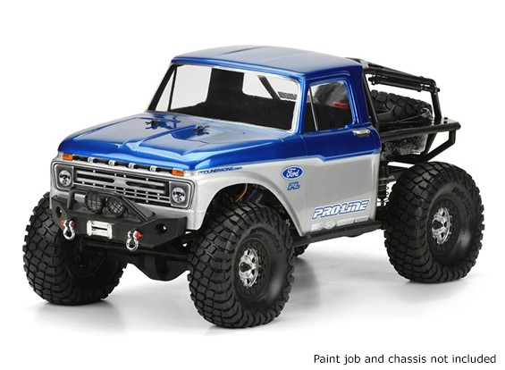 Pro-Line 1/10 Scale 1966 Ford F-100 Clear Body Voor Monster Trucks / Rock Crawlers