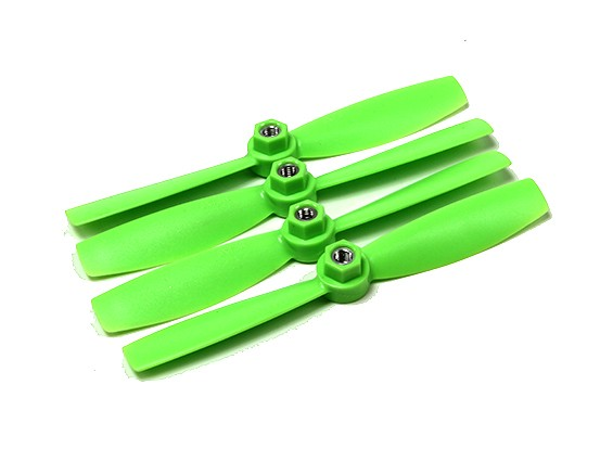 Diatone Plastic Self Aanscherping Polycarbonaat Bull Nose Propellers 5045 (CW / CCW) (Groen) (2 paar)