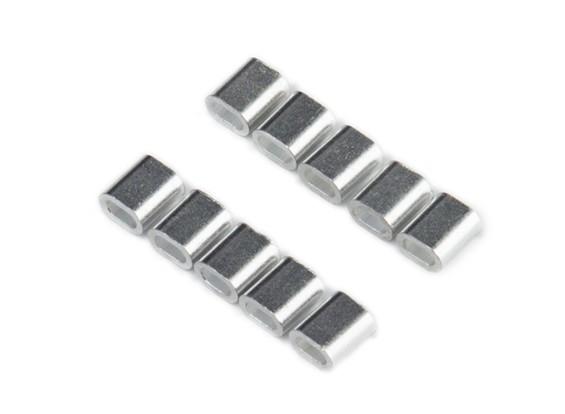 Krimpen van de buis voor staaldraad (10st / bag)