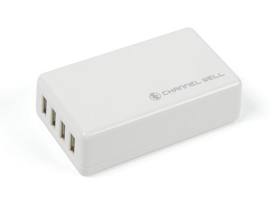 USB 4Port 16W / 3A Charger (US Plug)