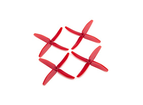 """Dalprops """"Indestructible"""" PC 5040 4-Blade Props Rood (CW / CCW) (2 paar)"""
