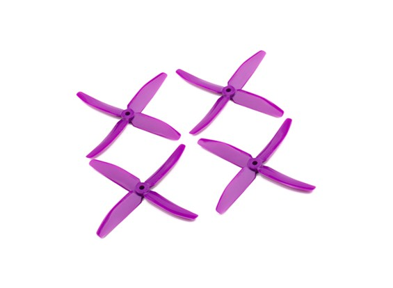 """Dalprops """"Indestructible"""" PC 5040 4-Blade Props Paars (CW / CCW) (2 paar)"""