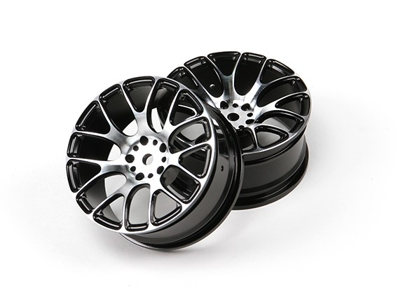 10/01 Aluminum Drift 7Y-Spoke Wheel (zwart)