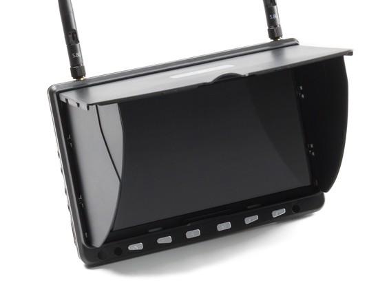 7 inch HD 5.8GHz 40CH Diversiteit LCD Monitor w / DVR, HDMI Skyzone HD02