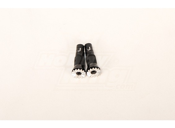 Custom Alloy Gimbal Extension - JR Tx (zwart)