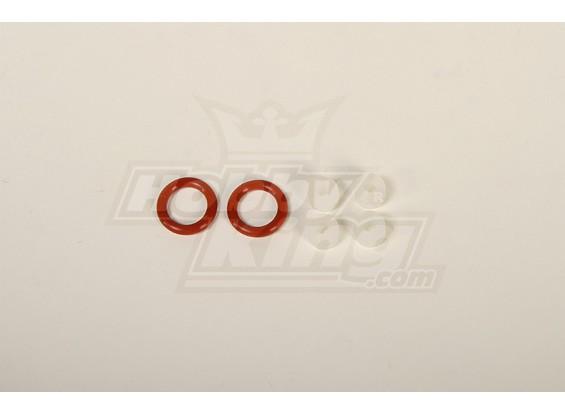 O-ring en Silicon Gromments Set (White / 4pcs & Red / 2 stuks)