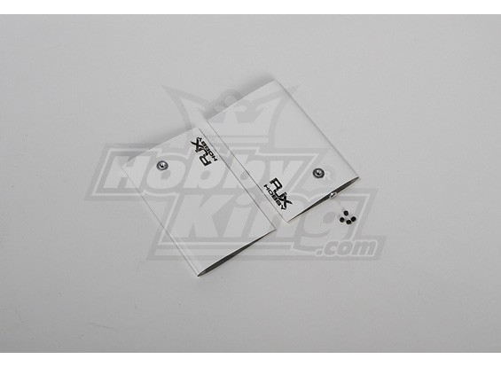 White CF Paddle 95mm voor 90/700 size heli (4mm)