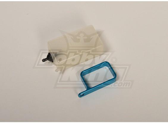 Header Tank w / metalen houder (blauw)