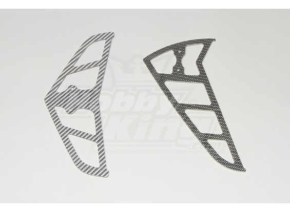 Grey Carbon Fiber Vinnen voor Raptor 30/50 (2 mm)