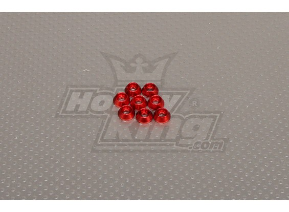 CNC Cap Bolt Washer M3 (3,5 mm) Rood