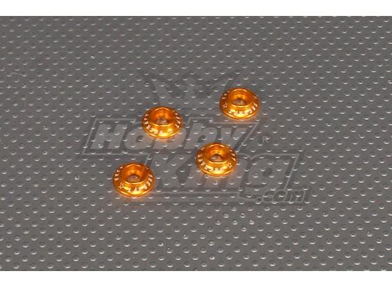 CNC Flens Washer 4.0 (M4, # 8-32) Gold