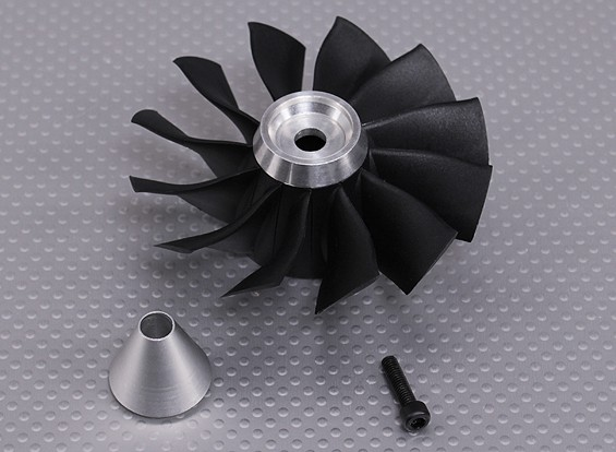 Vervanging Blades & Carrier voor 12 Blade High-performance 90mm EDF Ducted Fan Unit