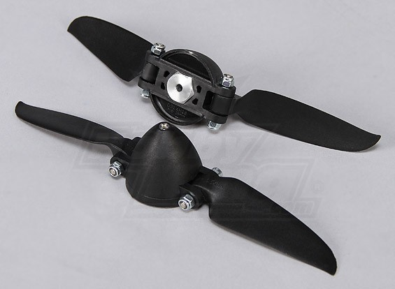 Folding Propeller W / Hub 35mm / 3mm Shaft 6.5x3 (2 stuks)