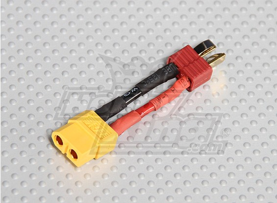 Mannelijke T-connector <-> Female XT-60 (1pc / bag)