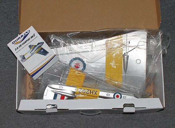 KRAS / DENT Durafly DH100 Vampire Mk6 EDF Jet w / terugtrekt 1100mm (PNF)