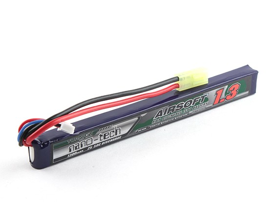 Turnigy nano-tech 1300mAh 2S 25 ~ 50C Lipo AIRSOFT Pack