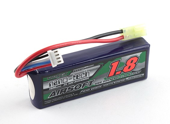 Turnigy nano-tech 1800mAh 3S 20 ~ 40C Lipo AIRSOFT Pack