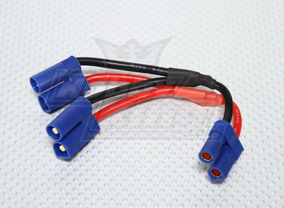 EC5 batterij Harness 12AWG voor 2 Packs in Parallel