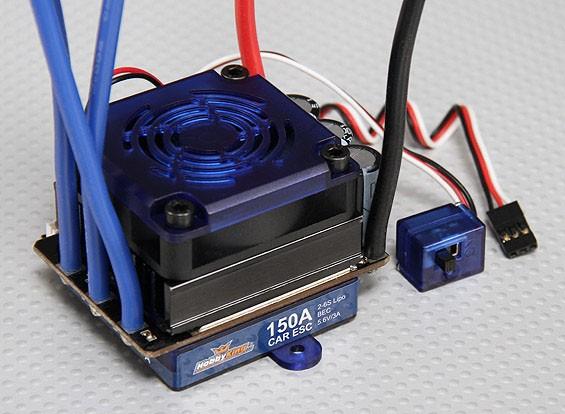 Hobbyking 150A Sensored / Sensorloze borstelloze Car ESC