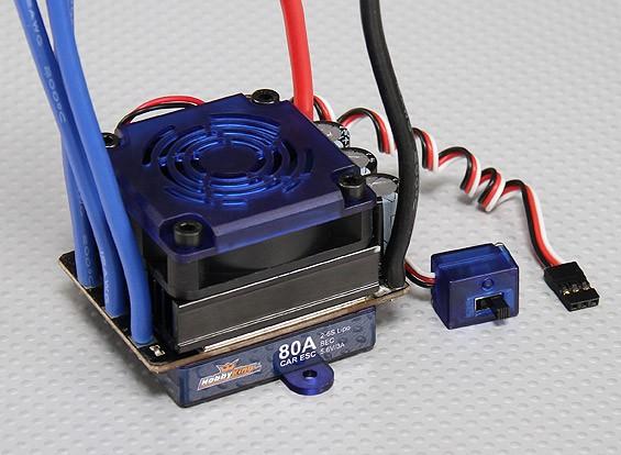 HobbyKing® ™ 80A Sensored / Sensorloze borstelloze Car ESC