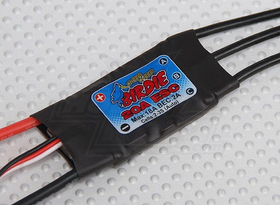 Birdie 20A Brushless ESC w / 2A BEC