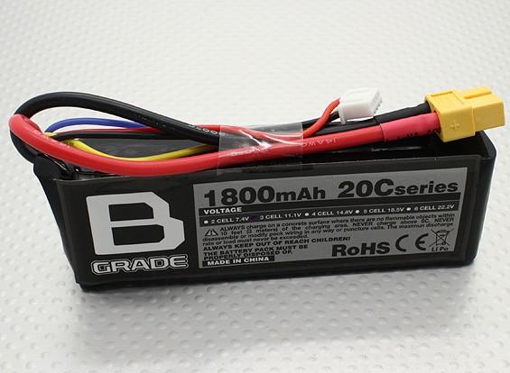 B-Grade 1800mAh 3S 20C LiPoly Battery
