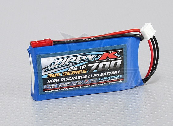 Zippy-K Flightmax 700mAh 30C 2S1P LiPoly Battery