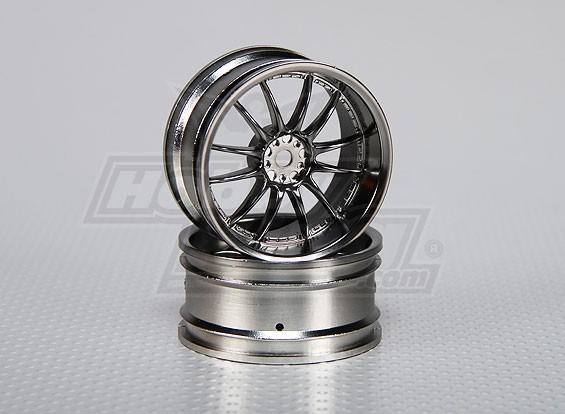 1:10 Scale Wheel Set (2 stuks) Split 6-Spoke RC Car 26mm (3mm offset)