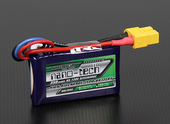 Turnigy nano-tech 350mAh 2S 65 ~ 130C Pack Lipo