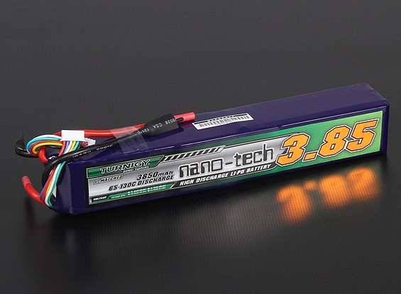 Turnigy nano-tech 3850mah 10S 65 ~ 130C Pack Lipo